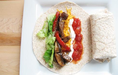 Beef & Portabella Mushroom Fajitas - Brittany Stager