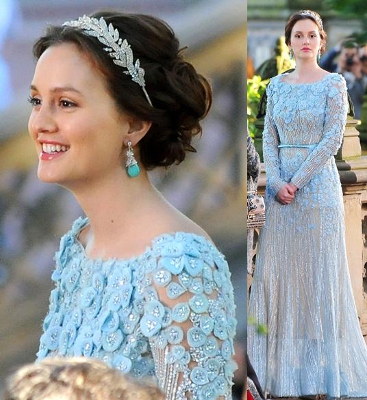 Макияж под нежно-голубое платье