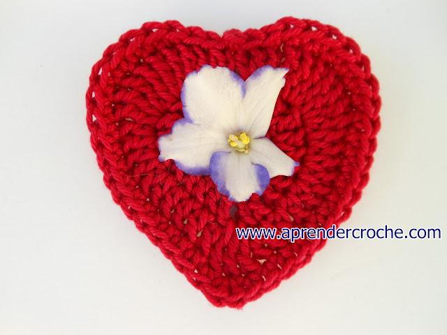 aprender croche com corações em croche