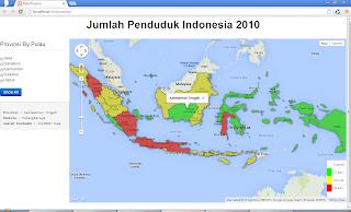 Peta Interaktif Jumlah Penduduk Indonesia