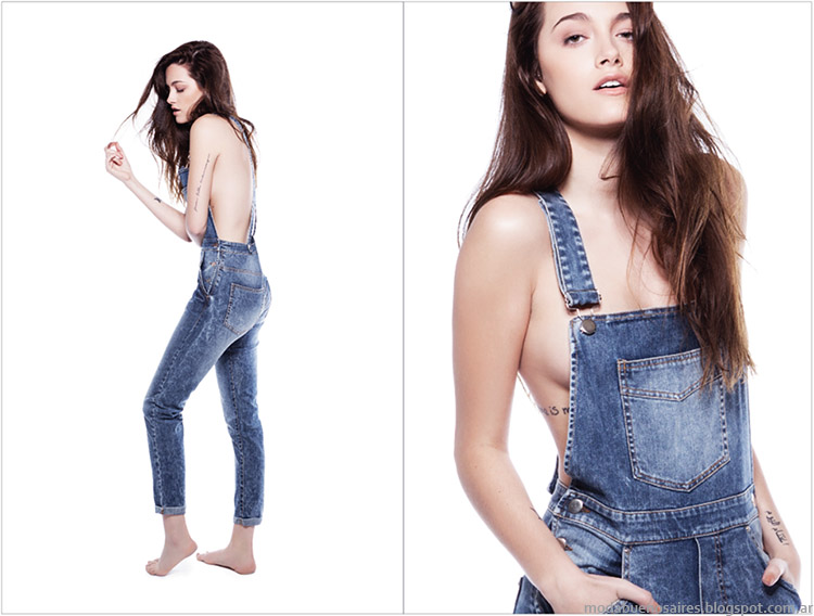Enteritos de jeans Complot moda 2015.