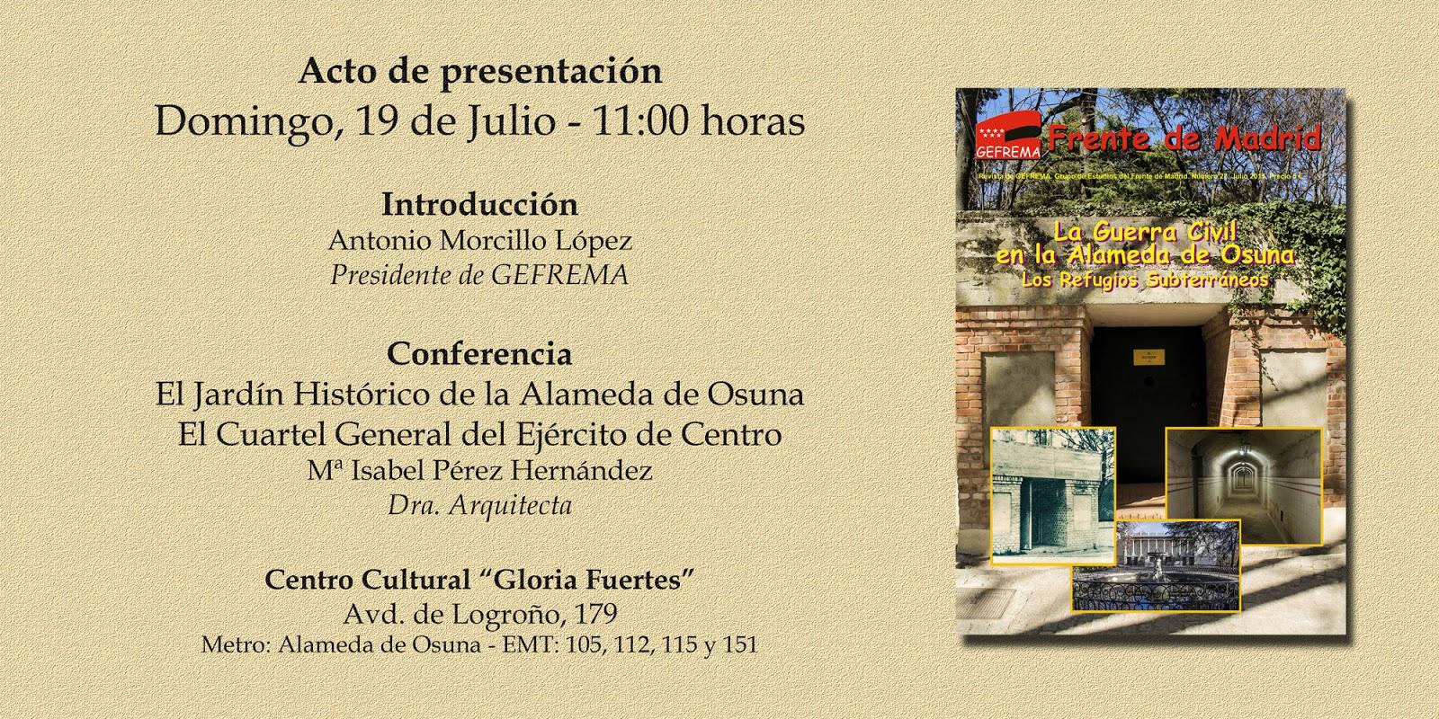 Barajas bic frente de madrid presenta un monogr fico for Jardin historico el capricho paseo alameda de osuna 25