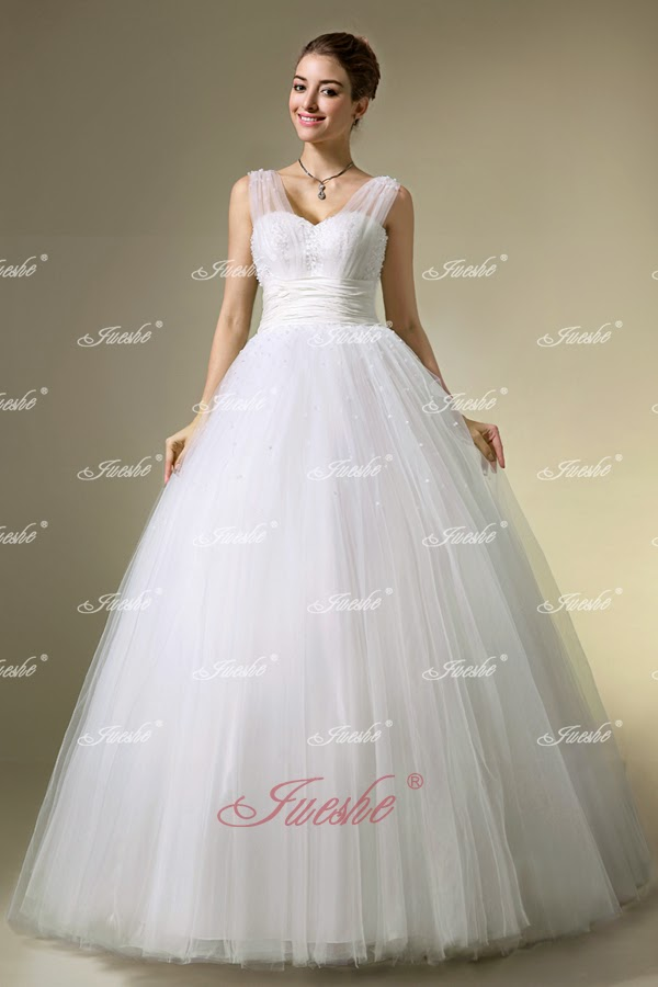 http://www.jueshegowns.co.uk/tulle-ball-gown-wedding-dress-with-sheer-straps-and-sequined-bodice-jswd0214.html