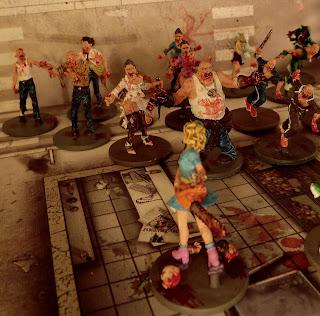 Zombicide, Dave, Wanda, painted, Survivors, Zombies