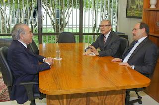 Michel Temer, Eliseu Padilha e José Ivo Sartori. (Romério Cunha/VPR)