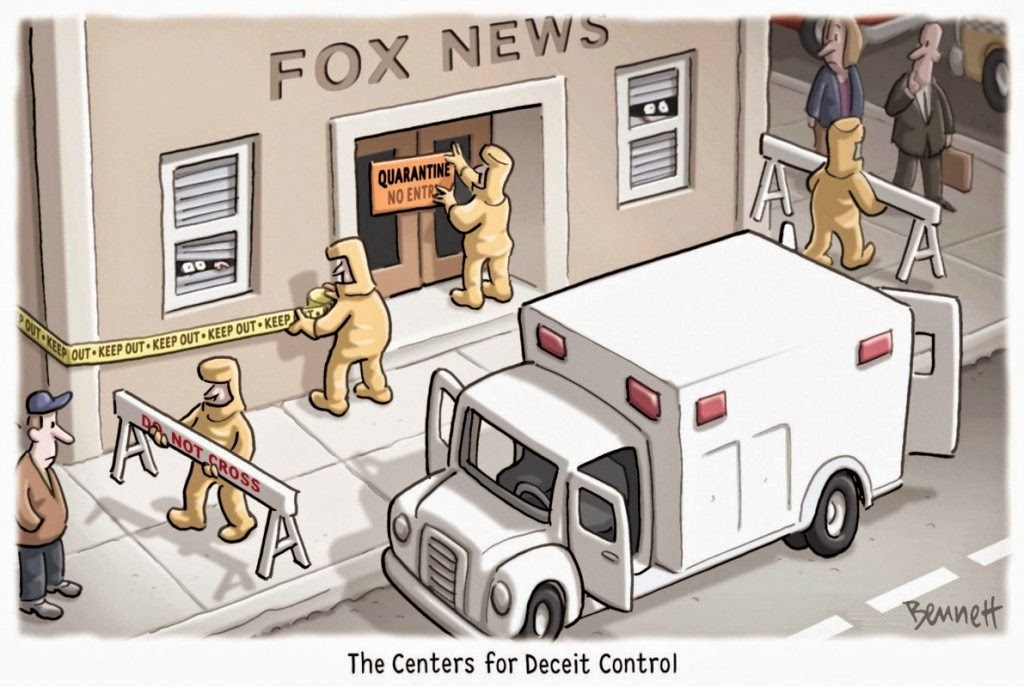 Clay Bennett: The Centers for Deceit Control.