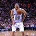 Ref hits Manu Ginobili in face with ball (GIF)
