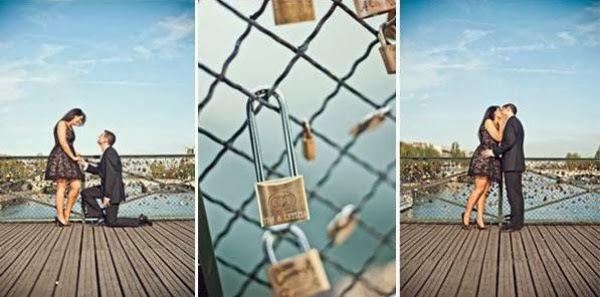 Cầu khóa tình yêu ở Paris – Pháp
