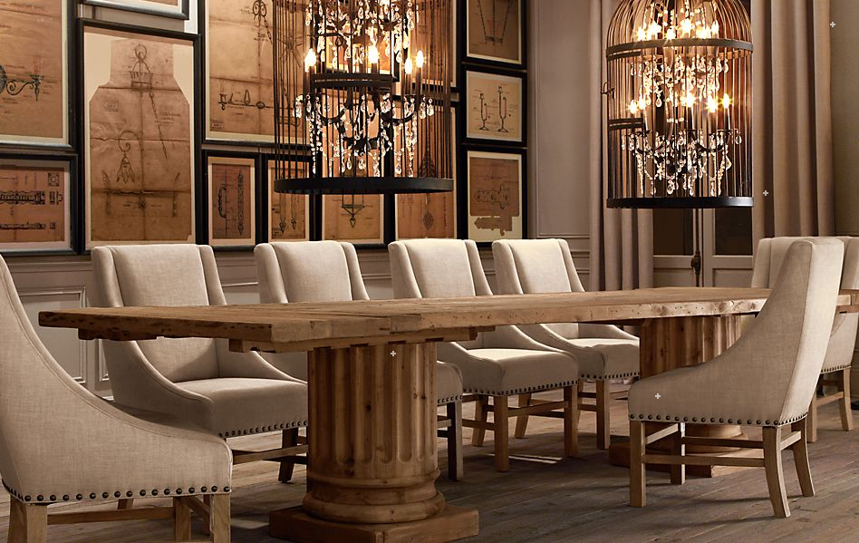 Dreams restoration hardware fall 2011 for Restoration hardware dining room ideas