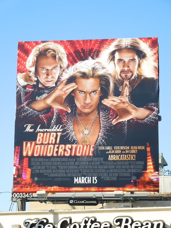 Incredible Burt Wonderstone movie billboard