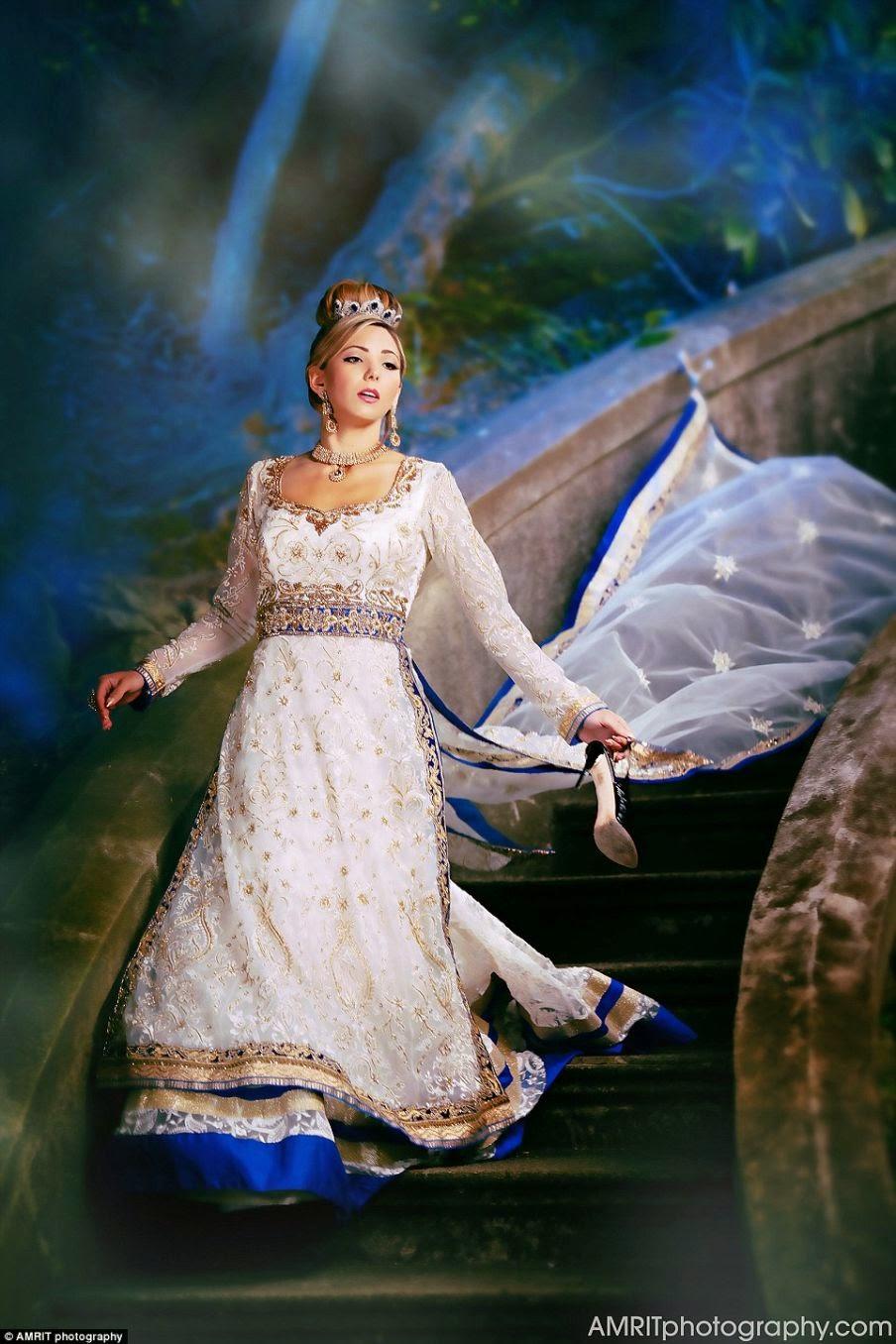 The vision behind Cinderella was Annie Leibovitz's shot.