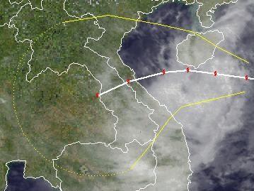 Tropischer Sturm NALGAE nähert sich Vietnam, Nalgae, Hainan, China, Vietnam, Verlauf, Vorhersage Forecast Prognose, aktuell, Oktober, 2011, Taifunsaison,