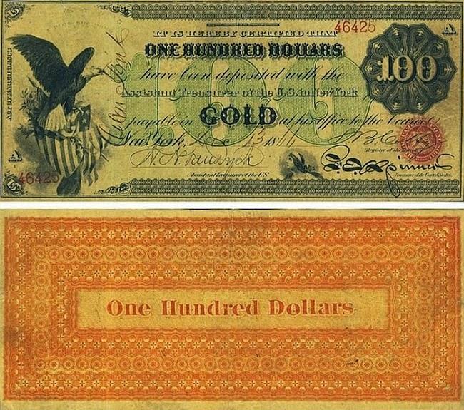 100 долларов США, 1863 год
