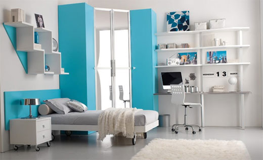 Blue Teenage Girl Bedroom Ideas