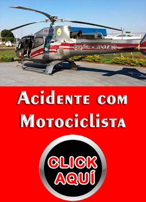 HELICÓPTERO SOCORRE MOTOCICLISTA EM GRAVE ACIDENTE LONDRINA