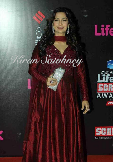 Juhi Chawla at Screen awards 2015