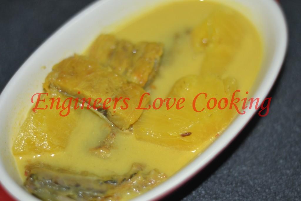 Engineers love cooking masak lemak ikan kering nenas for Pineapple sauce for fish