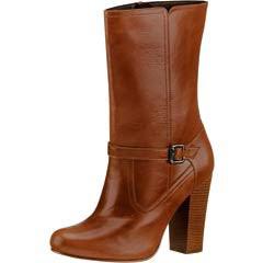 Zapato cerrado, bota cafe claro dama modelo 10565