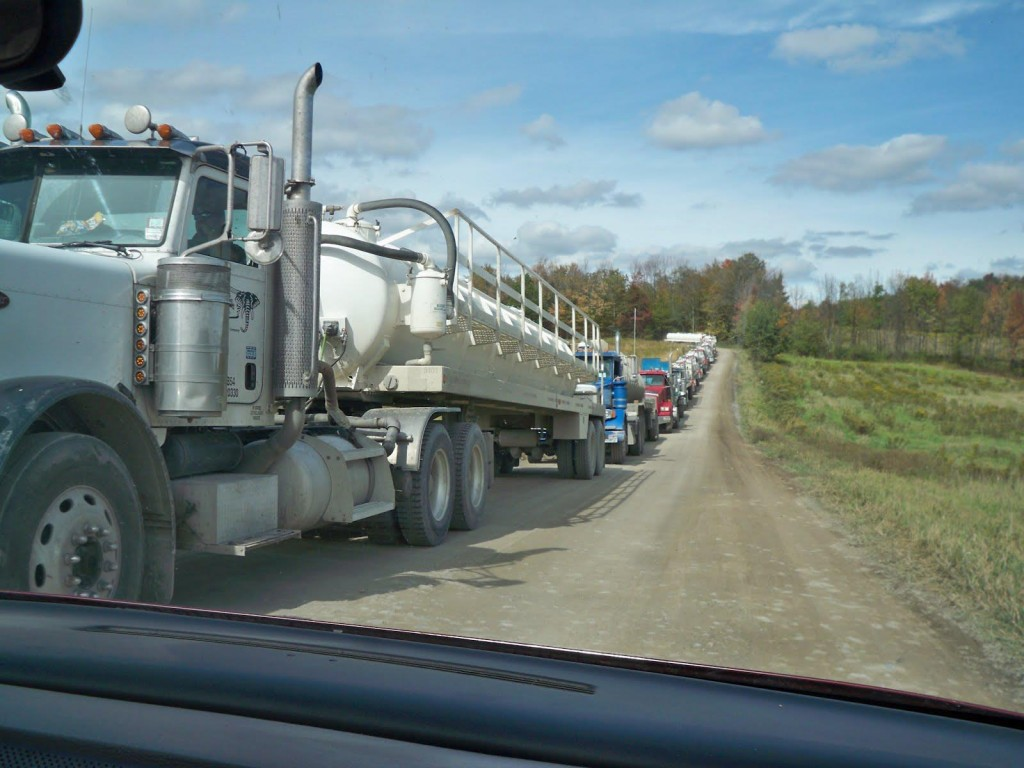Fracking water trucks the fisheries blog fracking harms fish through