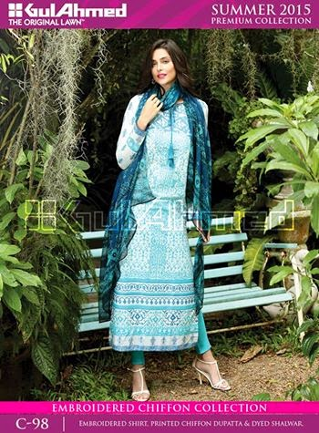 Gul ahmed spring lawn suits 2015