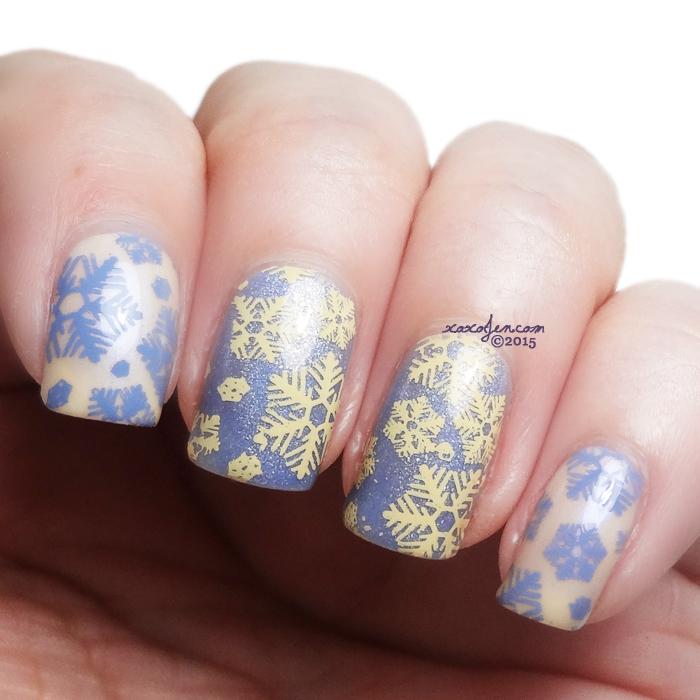 xoxoJen's nailart with Vivid Lacquer VL006 - snowflakes