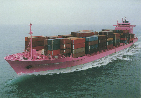 One of the Biggest Pink Freighter Ship on Earth - Contship Germany - Art Car_Central