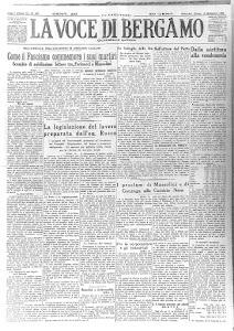 """""""LA VOCE DI BERGAMO"""" 12 SETTEMBRE 1925"""