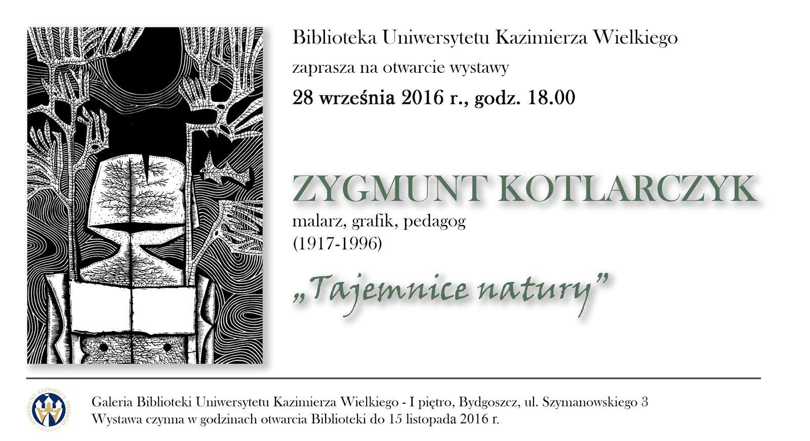 Zapraszamy do zwiedzania wystawy Zygmunta Kotlarczyka
