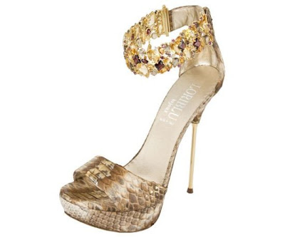gold shoes, crystal shoes, snakeskin shoes, bling stilettos