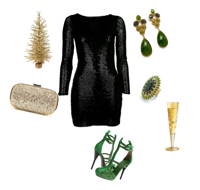 Style delights how to wear sequin dresses for Jewelry accessories for black dress