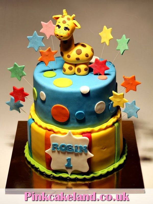 London Patisserie 1st Bday Cake With Giraffe