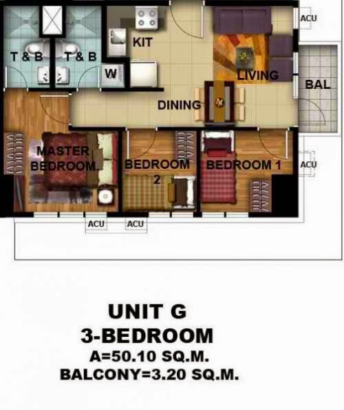 Asmara Condominium 3 Bedroom Unit With Balcony