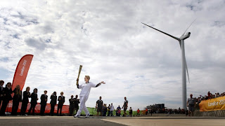 Next London Olympics 2012 : London Olympic Flame Visits Ness Point