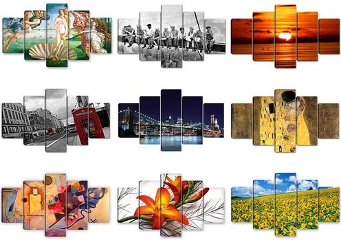 quadri separati con tela divisa su 3 5 o pi pannelli