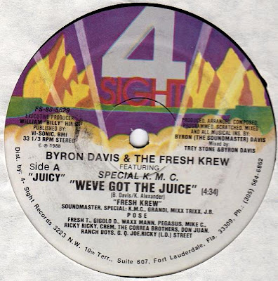 Byron Davis And The Fresh Krew – We've Got The Juice (1988, VLS, 192)