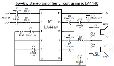 la4440 stereo amplifier circuit diagram wiring radar la4440 stereo amplifier circuit diagram
