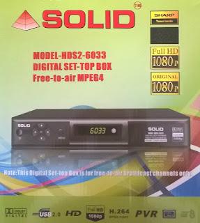 SOLID HDS2-6024 MPEG-4 / DVB-S2 FTA Satelllite Decoder