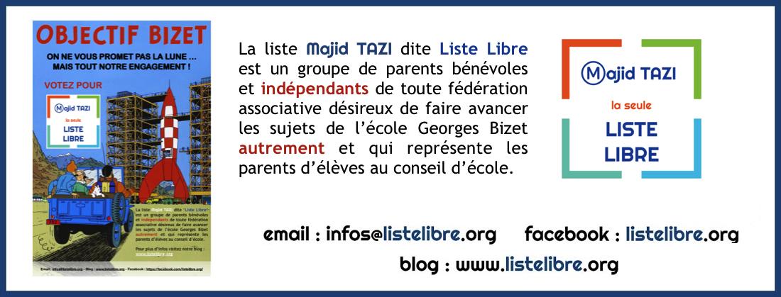 Liste Libre Majid TAZI de l'école G. BIZET