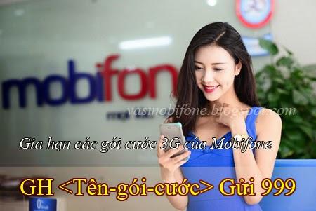 Làm sao để gia hạn các gói cước 3G của Mobifone