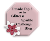 I Made Top 3 at Glitter n Sparkle - April 2014