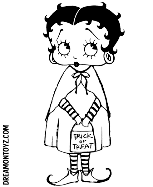 Betty Boop Halloween Coloring Pages