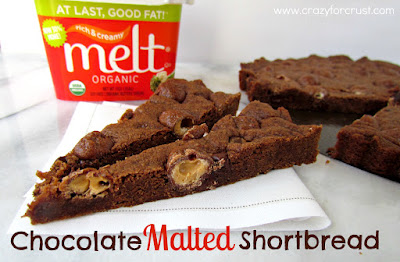 Recipe: Chocolate malted shortbread with Melt Organic spread