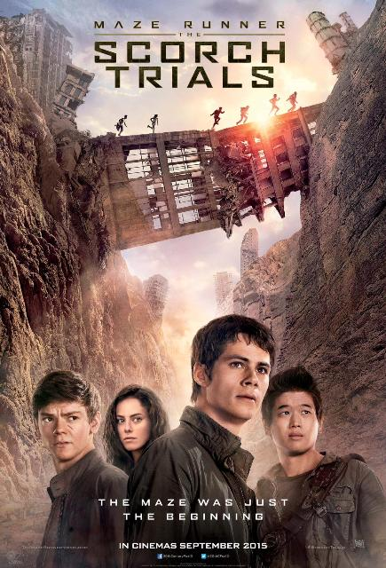 MAZE RUNNER: THE SCORCH TRIALS (2015) movie review by Glen Tripollo