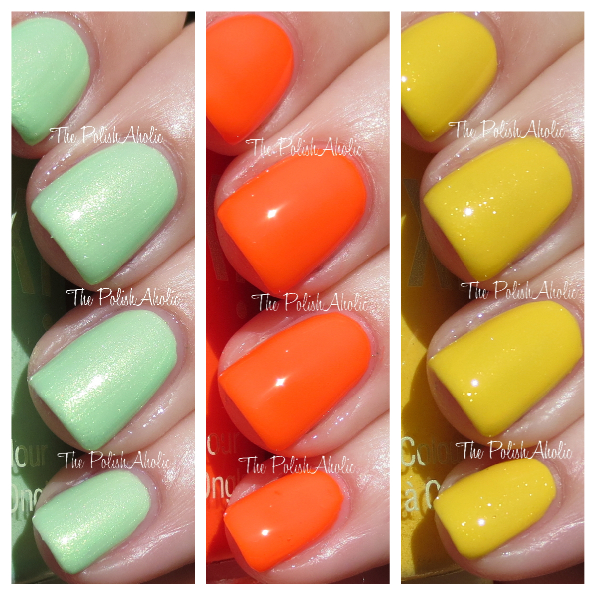 The PolishAholic: Pixi Summer 2014 Nail Polish Swatches & Review