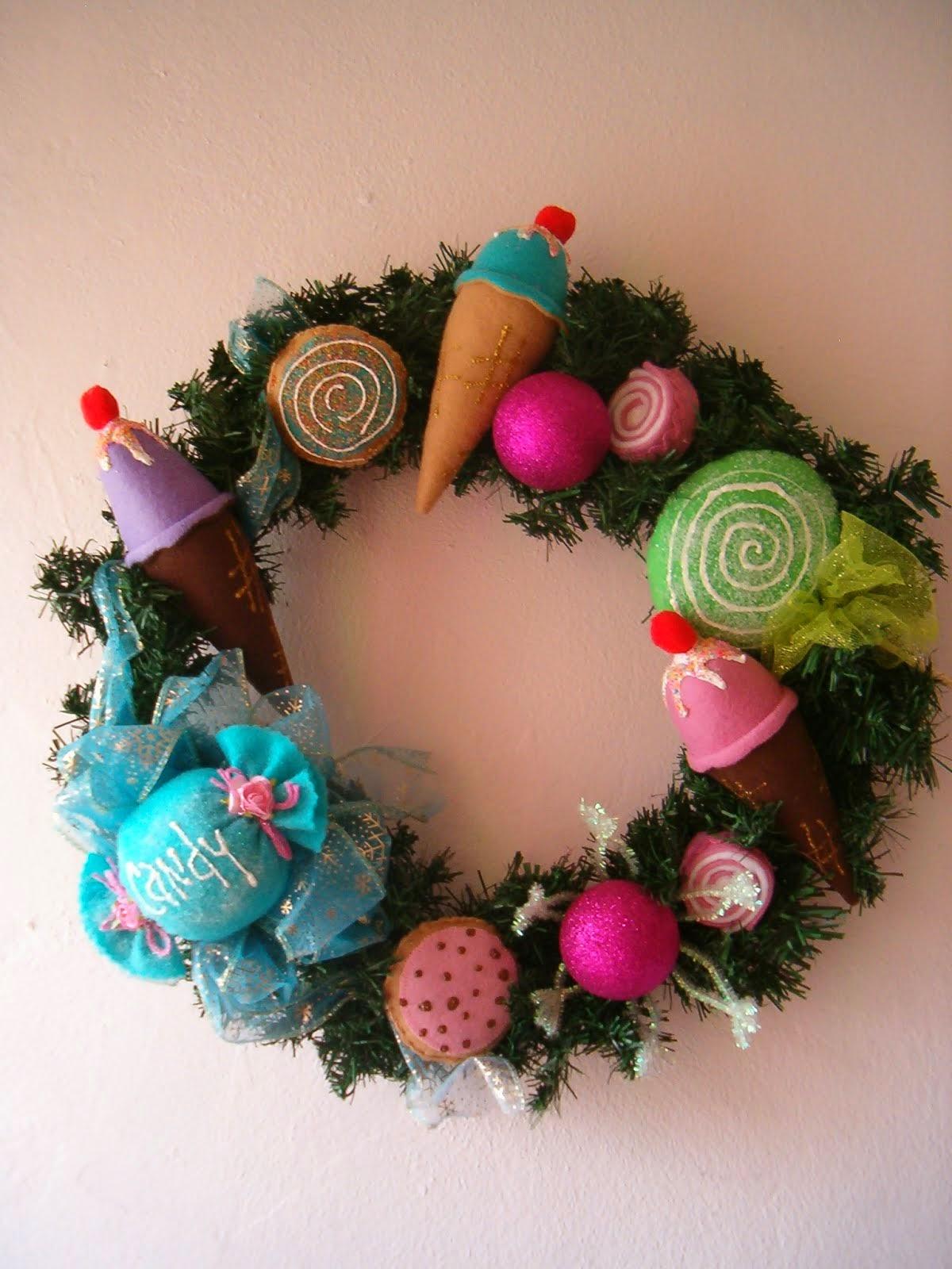 corona navidad dulces