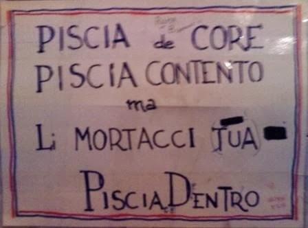 Marchingegno88 rivincita del romano sul toscano ai posteri l 39 ardua sentenza - Cartelli divertenti bagno ...