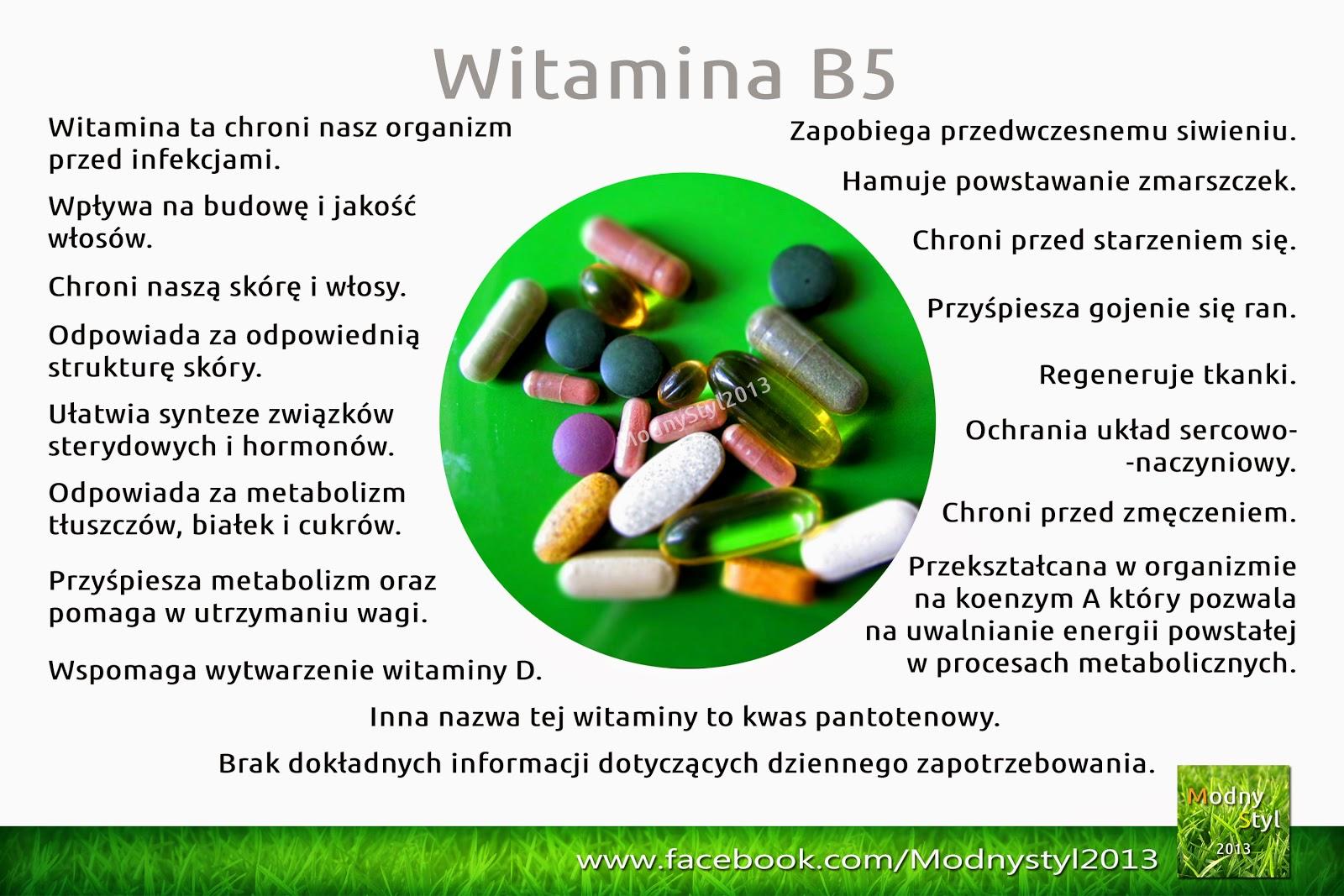 Witamina B5 zwana kwasem patotenowym