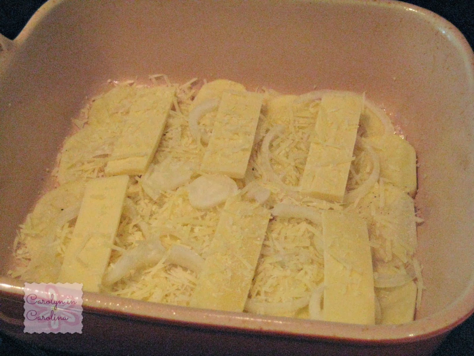 Carolyn in Carolina: Onion Potato Gratin