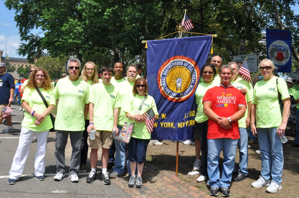 Broadcast Union News Ibew Local 1212 Contingent At Workers Stand