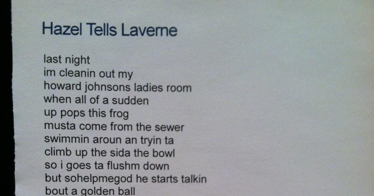 hazel tells laverne theme